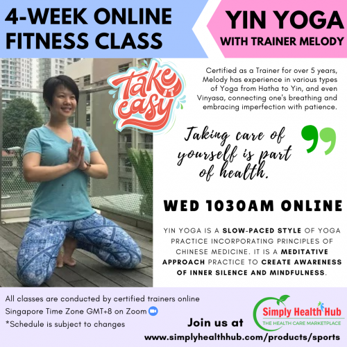 Yin Yoga 4-Week Online Fitness Class